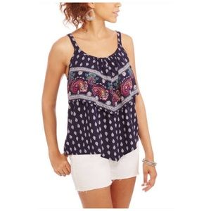 . Tops - Ruffled Handkerchief Tank Top